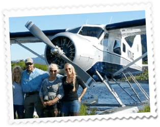 FamilyWithPlane 1 - Home of Airventures-Anchorage Alaska-Moose, Bears and Salmon Fishing by Plane