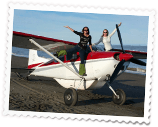 LadiesOnPlane 1 - Home of Airventures-Anchorage Alaska-Moose, Bears and Salmon Fishing by Plane