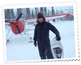 Man Snowshoes 1 - Home of Airventures-Anchorage Alaska-Moose, Bears and Salmon Fishing by Plane