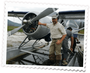ManAtProp 1 - Home of Airventures-Anchorage Alaska-Moose, Bears and Salmon Fishing by Plane